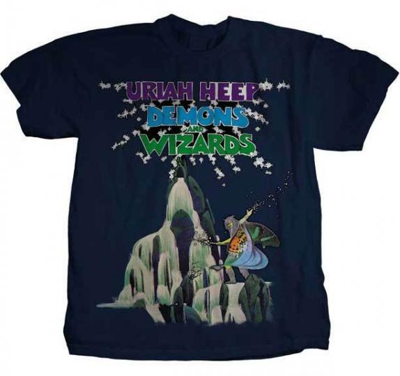 Uriah Heep Demons and Wizards Hard Rock Heavy Metal Music Tee Shirt PHD-1026