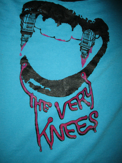VERY KNEES CONCERT T SHIRT Cleveland Ohio Band Tour Lips Fangs Party All Night S