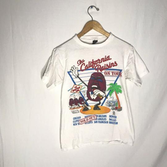 VINTAGE THE CALIFORNIA RAISINS ON TOUR TSHIRT THE GRAPEVINE TOUR 1987 Small