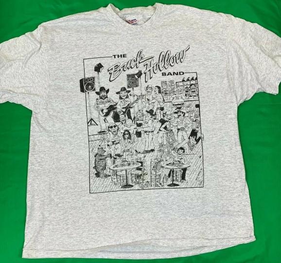 VTG 90's The Buck Hollow Band T-Shirt Men's SZ 2XL Big Graphics Rare Gray