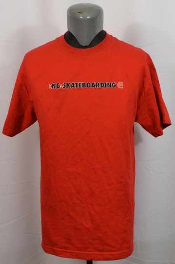 VTG Etnies No Skateboarding T-Shirt Large Red Know Large Men's Emerica eS DC