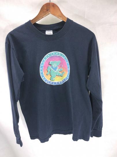 VTG Grateful Dead Concert Tour Shirt Long Sleeve 1996 Dancing Bear M Dead Rock
