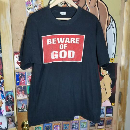 VTG Marilyn Manson Beware of God is a Shepherd sz XL Tour Band T-shirt - NIn 90s
