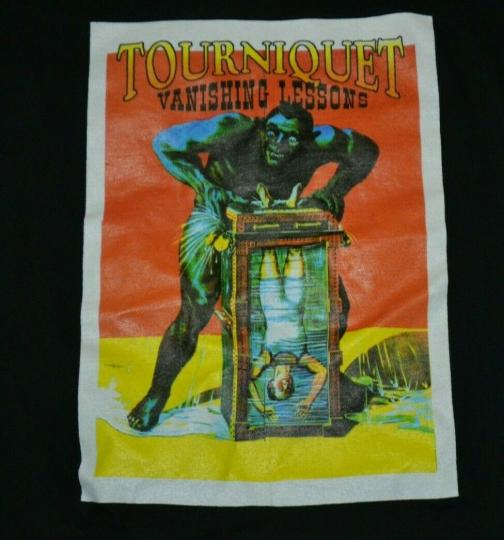 VTG OG Tourniquet Vanishing Lessons T Shirt XL 1994 Christian Thrash Metal 90s