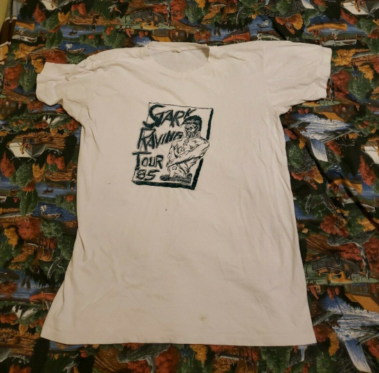 Vintage 1985 Stark Raving Mad Amerika Tour Shirt L Austin Hardcore Punk Band