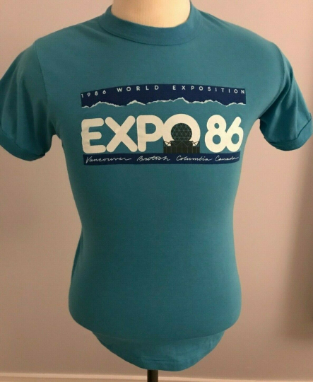 Vintage 1986 World Exposition Adult T-Shirt  Size: S- Vancouver BC Canada