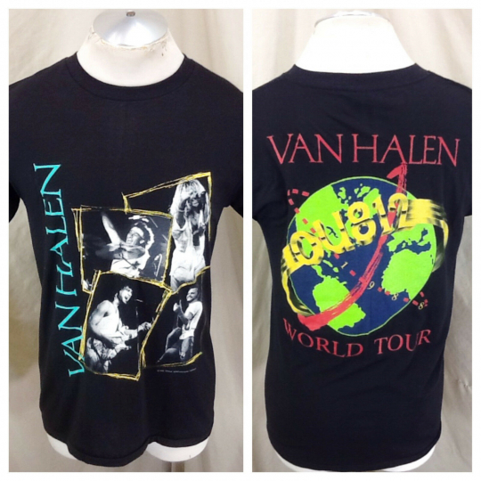 Vintage 1988 Van Halen World Tour (Large) Retro Classic Rock Graphic Band Shirt