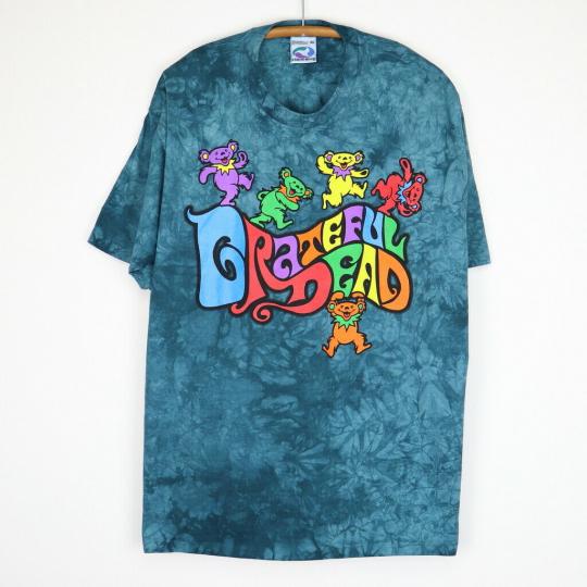 Vintage 1990s Grateful Dead Dancing Bears Tie Dye Shirt