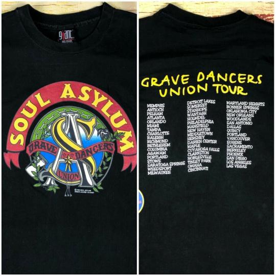 Vintage 1992 Soul Asylum Band Concert Tour Double Sided T Shirt live Mens Large