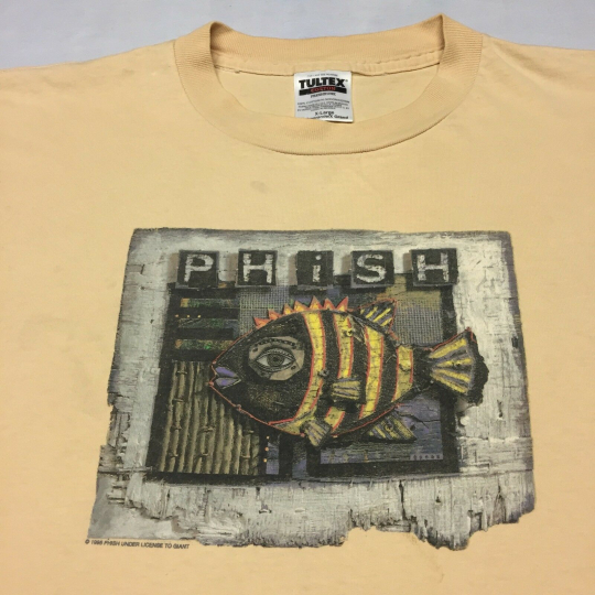 Vintage 1995 Phish Band Concert XL T-shirt 2-sided Tour Deadhead Trey Jam Guitar
