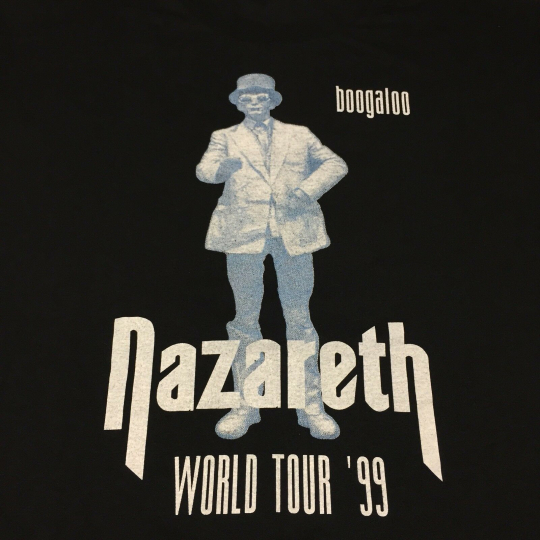 Vintage 1999 Nazareth Concert T-shirt 2-sided World Tour Boogaloo Guitar Band