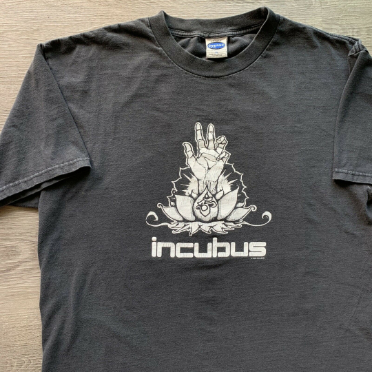 Vintage 2000 Incubus Band Tee Tshirt Black Rock Metal Size XL Double Sided