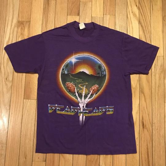 Vintage 80's The Grateful Dead 1983 Tour Shirt Sportswear VTG DEADHEADS Small