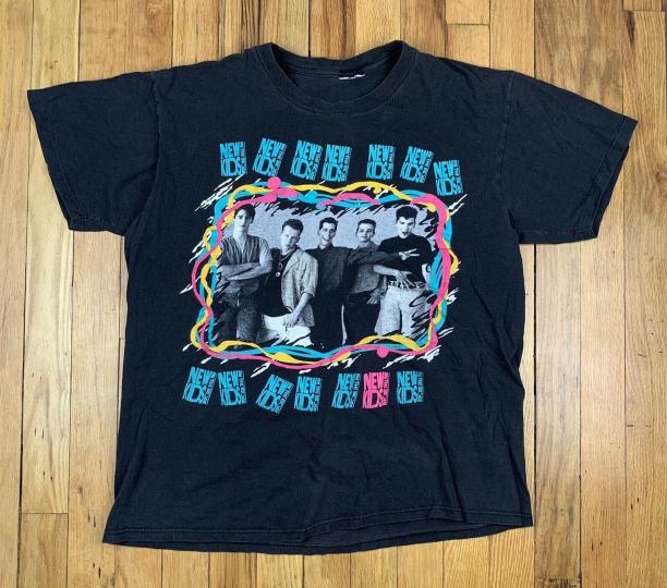 Vintage 80s 1989 New Kids On The Block Band T Shirt Size Medium