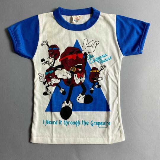 Vintage 80s California Raisins Childrens Kids T-Shirt Size Medium 5-6 by Pilgrim