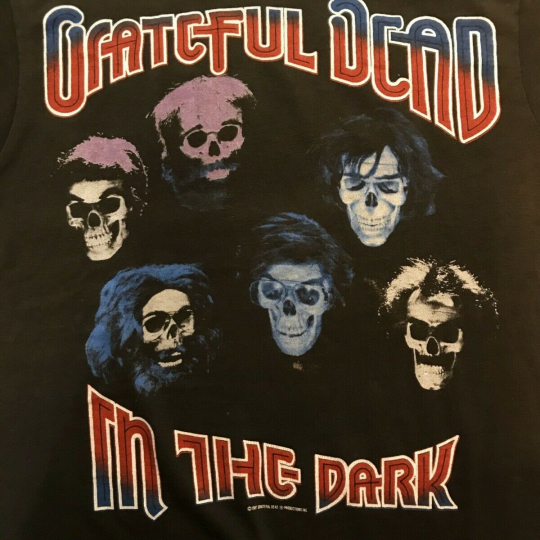 Vintage 80s GRATEFUL DEAD T-SHIRT size M MADE IN USA free shipping rare