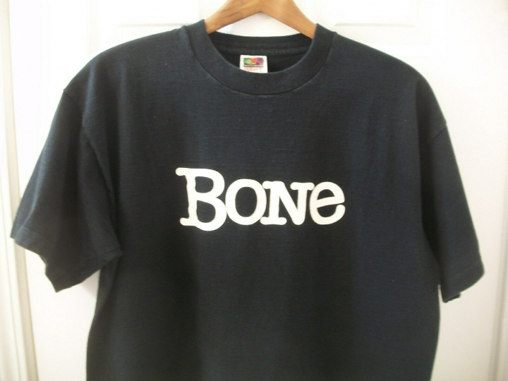 Vintage 90s Bone T Shirt XL It's About the Music Russian Bootleg X-Ray Records
