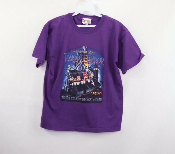 Vintage 90s Disney Youth XL The Twilight Zone Tower of Terror Disney World Shirt