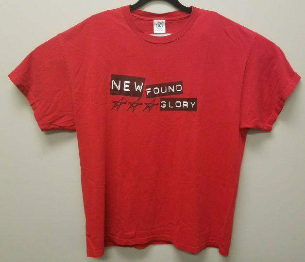 Vintage 90s New Found Glory Mens XL Band Tee T Shirt NFG Grunge Skate 2000