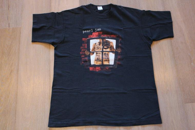 Vintage 90s Pearl Jam Window Pain T-Shirt Size XL Black Band Tee Nirvana VTG Lot