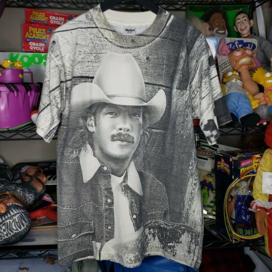 Vintage Alan Jackson Country Music Band Tee Tshirt All Over Print 1995 Large