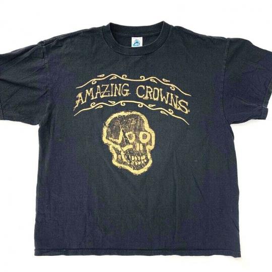 Vintage Amazing Crowns Rockabilly Punk Band T-Shirt 1990s size XL Rare