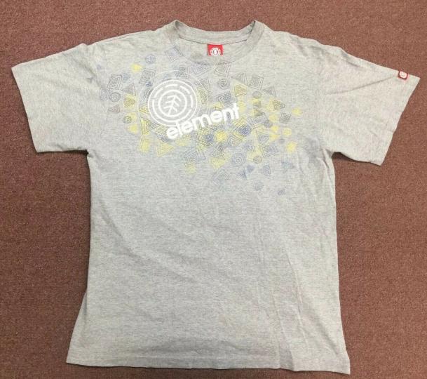 Vintage Element Skateboards Shirt Grey Large
