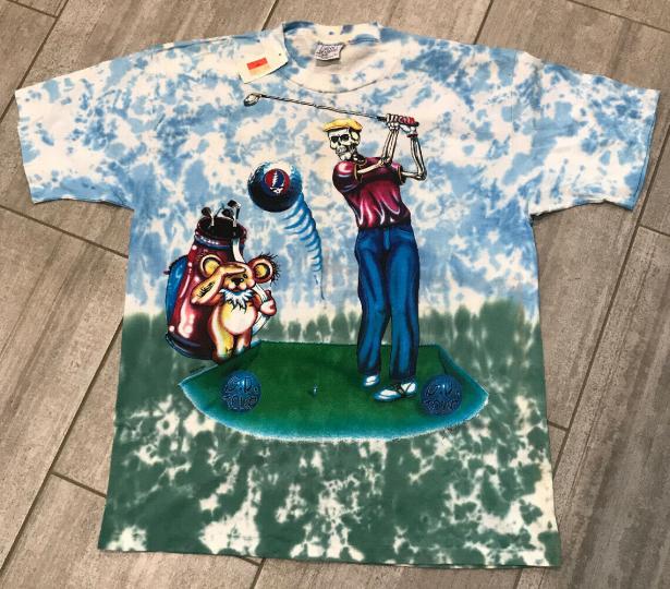 Vintage Grateful Dead '94 Tour Band Tee T Shirt Large Golfer Double Sided DS NOS