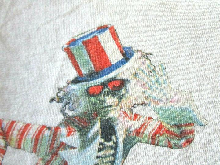 Vintage Grateful Dead T-Shirt (L) 1986 Uncle Sam Skeleton 2-Sided Band Tee