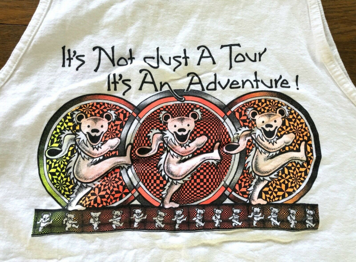 Vintage Grateful Dead Tank Top - Not Just A Tour Its An Adventure - RARE LARGE