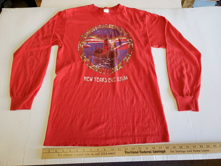 Vintage Grateful Dead rock t-shirt 1980s Mouse Kelley New Years Eve 83/84 Shirt