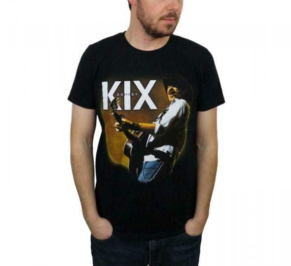 Vintage Men's Garth Brooks & Dunn Kix Tour Concert T Shirt Medium Country Guitar