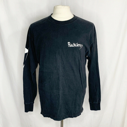 Vintage Murina Buckcherry Black Long Sleeve Band Tee Shirt USA Rock Size L