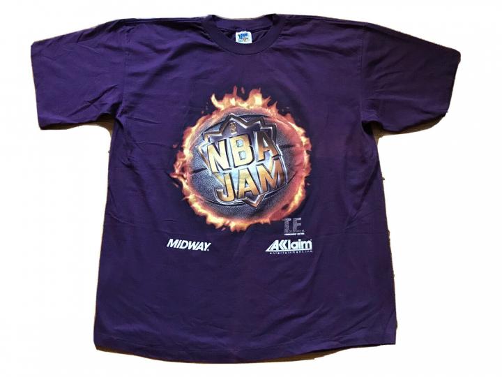 Vintage NBA Jam Sega Genesis 90s Video Game Promo Shirt XL