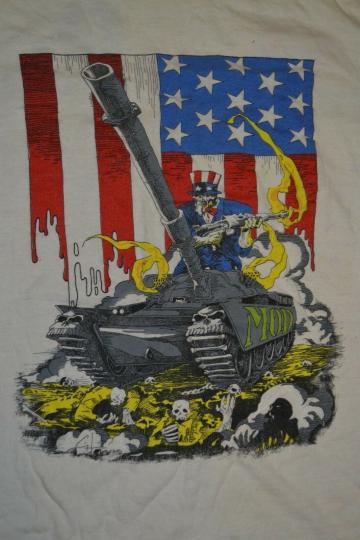 Vintage OG Method Of Destruction MOD Hate Tank 1988 Tour Shirt XL Thrash SOD
