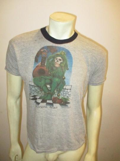 Vintage ORIGINAL GRATEFUL DEAD Kelley Mouse 1973 JESTER Ringer Shirt Size LARGE