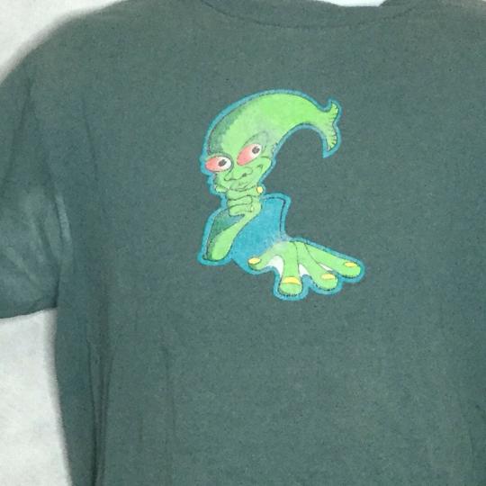 Vintage PHISH Tour TShirt XL 1996 Aqua Man Jam Band Distressed Faded PhishHead