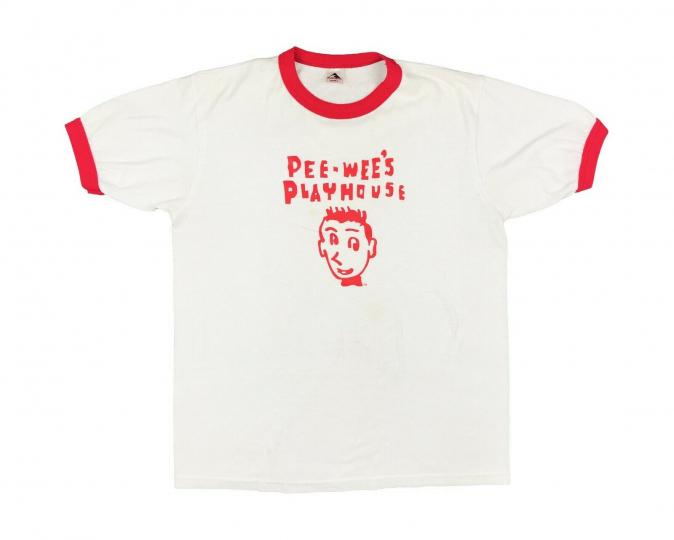 Vintage Pee Wee's Playhouse Shirt Pee Wee Herman 80s 90s Ringer T V10