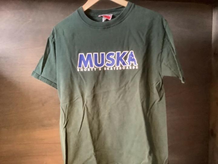 Vintage SHORTYS CIRCA Chad Muska Skateboarding Shirt Mens Medium GREEN