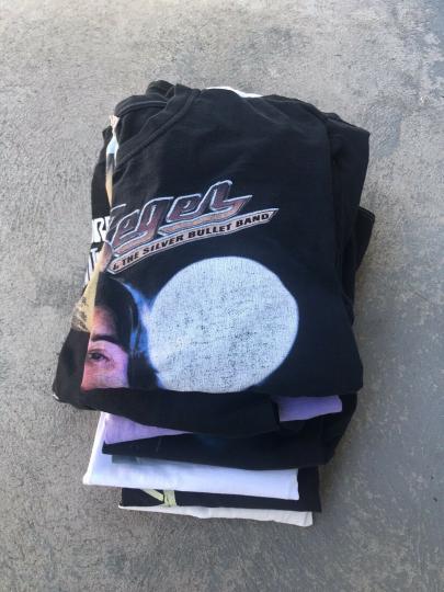 Vintage Tee Shirt Bundle 12 Items 90s 2000s Band Shirts Music Rock Bulk Resale