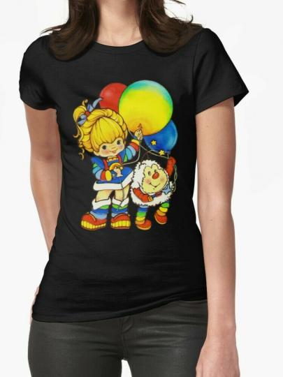 Vintage Up, Up & Away Rainbow Brite Women T-Shirt Cotton For Girl Shirt