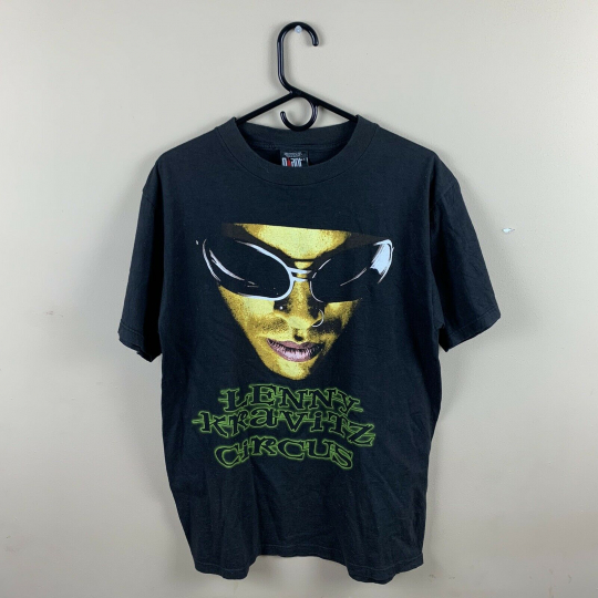 Vintage XL Extra Large 90s Giant Lenny Kravitz Circus Skeleton Guitar Tour Tee