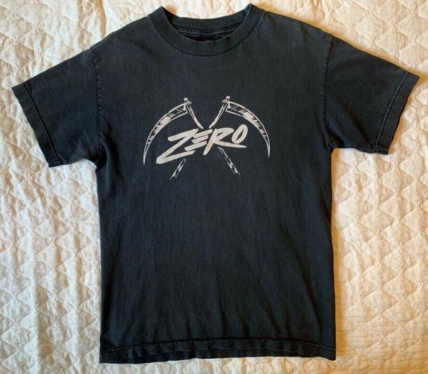 Vintage Zero Skateboards Jamie Thomas Tee Size SMALL Skate Shirt Skateboarding