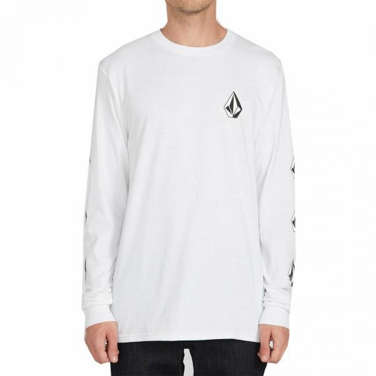 Volcom Men's Deadly Stones Long Sleeve T Shirt White Clothing Apparel Streetw...