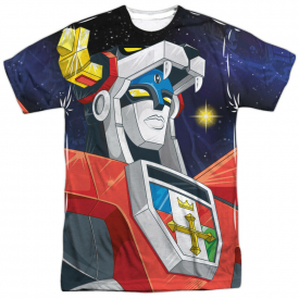 Voltron Defender Of The Universe Space Sublimation Licensed Adult T Shirt
