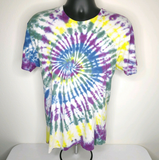 Vtg 80s 90s Tie Dye Single Stitch Tshirt Men's Psychedelics Blank Grateful Dead
