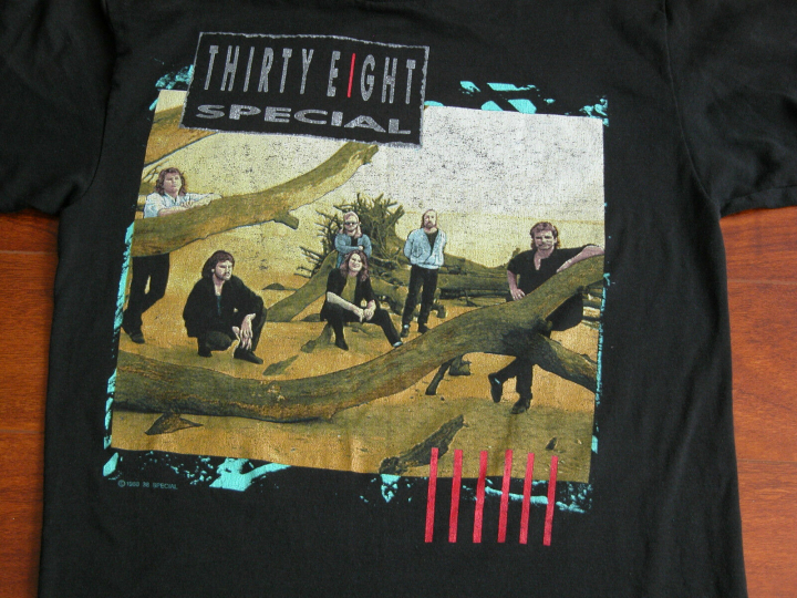 Vtg 80s THIRTY EIGHT SPECIAL Rock & Roll Strategy Concert Tour Band T Shirt M