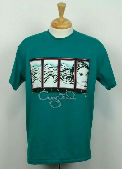 Vtg Crystal Gayle On Tour Mens Size L Talladega Nights Ricky Bobby Band T Shirt