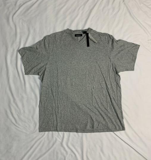 Vtg DKNY V-Neck Cotton Tshirt Mens Gray Size XL NEW