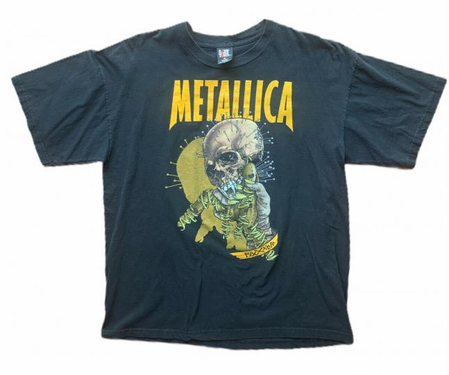 Vtg Metallica Pushead T-Shirt Rock Heavy Metal Music Band Tee Double Sided Sz XL